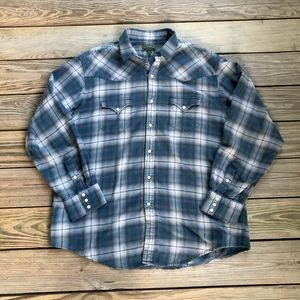 Filson Western Flannel Snap Front Long Sleeve